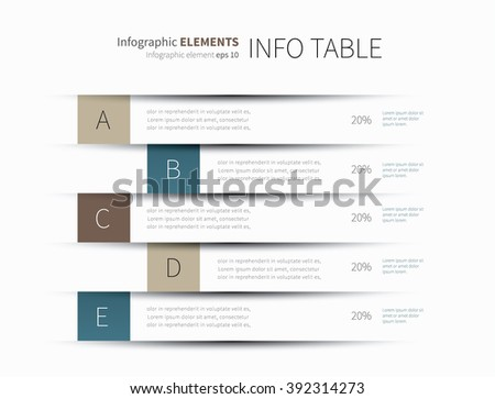 vector presentation wall lines with shadow and cut effect / infographics table lines - stock vector