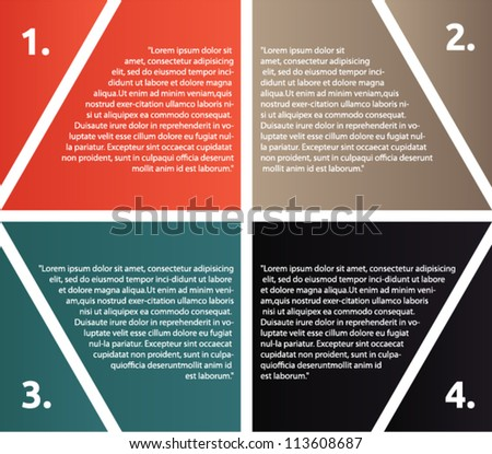 Vector presentation with hexagon shaped  and arrows - stock vector