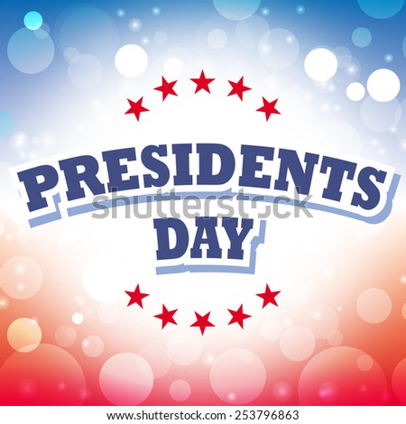 vector presidents day america banner abstract american flag background illustration - stock vector