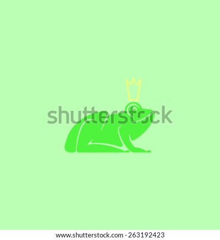 Vector Princess frog - stock vector