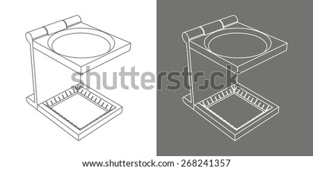 Vector print cmyk glass icon - stock vector
