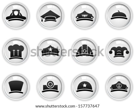 vector profession icons set - Separate layers for easy editing - stock vector