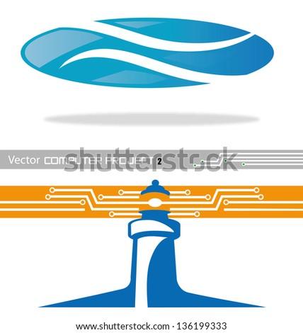 vector project computer 2 - stock vector