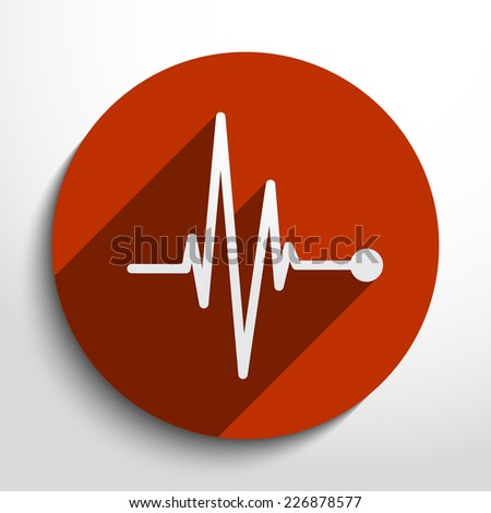 Vector pulse icon. Heart beat, cardiogram. Eps 10. - stock vector