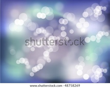 Vector purple and green bokeh effect with a glow - stock vector