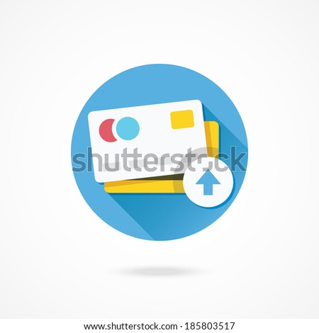 Vector Put Credit Card Icon - stock vector