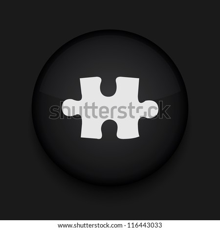 Vector puzzle icon. Eps10. Easy to edit - stock vector