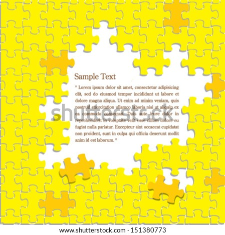 Vector puzzles background - stock vector