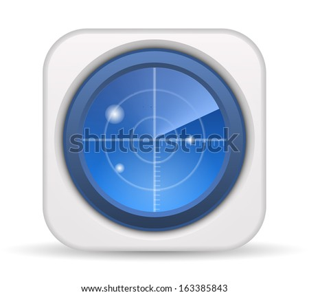 Vector radar screen icon - stock vector