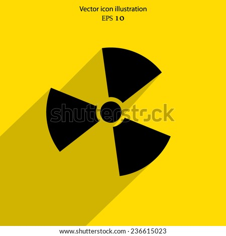 Vector radiation web icon. Eps 10. - stock vector