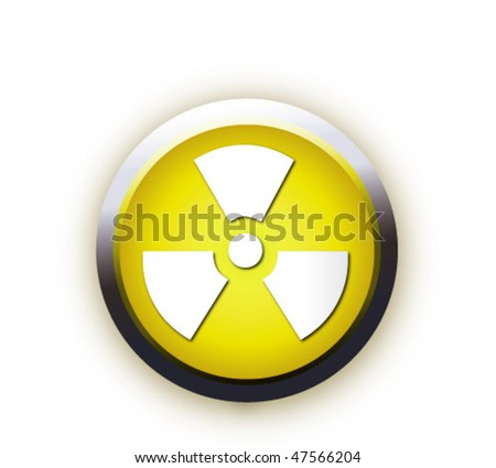 vector. radioactive sign - stock vector