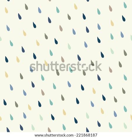 Vector rain drops background - stock vector