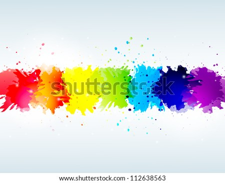 vector rainbow abstract background - stock vector
