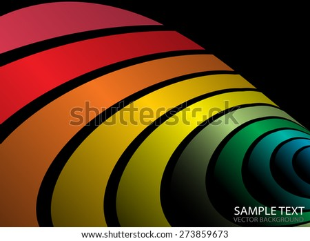 Vector rainbow colorful arcs abstract background illustration - Abstract rainbow colorful striped background template - stock vector