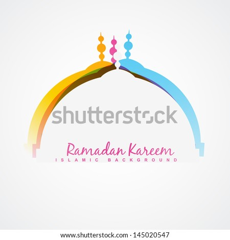 vector ramadan festival design background - stock vector