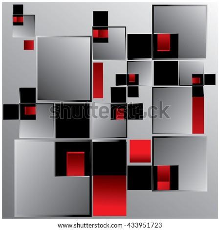 vector random blocks background pattern - stock vector
