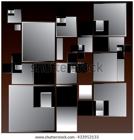vector random blocks shape pattern background - stock vector