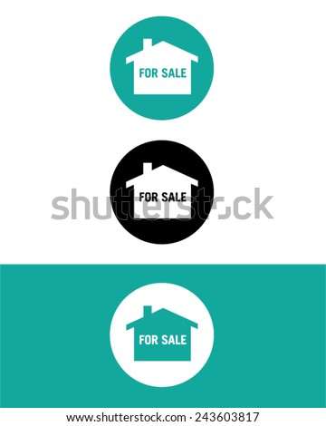 Vector Real Estate 'For Sale' Icon Set - stock vector