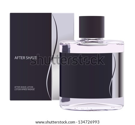 vector realistic after shave lotion, raster version available - stock vector