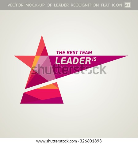 Vector Recognition Icon For Team Leader - stock vector