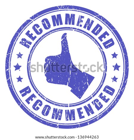 Vector recommended stamp - stock vector