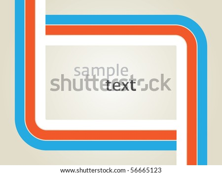 Vector rectangle for text, three color line as frame - stock vector