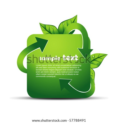 vector recycle design illustration - stock vector