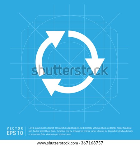 Vector Recycle icon - stock vector