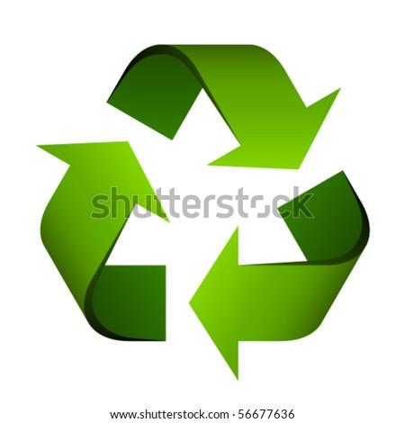 vector recycle symbol - stock vector