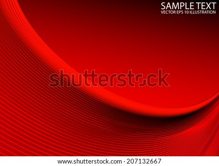 Vector red arc abstract background  illustration -  Red abstract  futuristic arc background template - stock vector