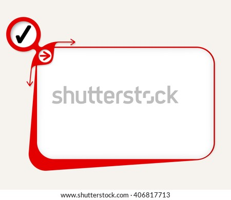 Vector red box to fill your text and check box - stock vector