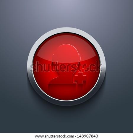 Vector red circle button. Eps10 - stock vector