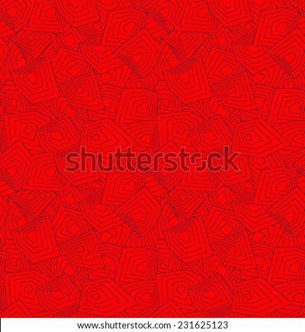 Vector red geometric pattern - stock vector