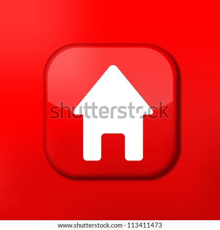 Vector red house icon. Eps10. Easy to edit - stock vector
