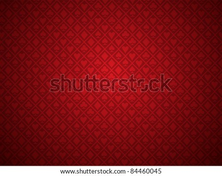 vector red poker background - stock vector