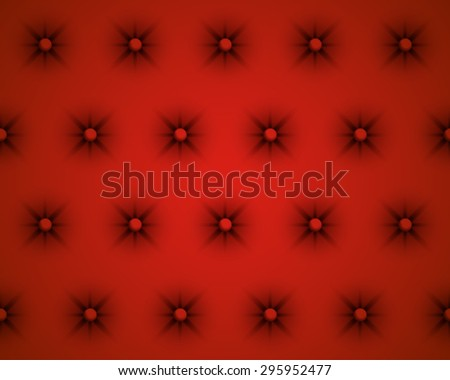 Vector Red Texture of the Skin of the Door Upholstery - stock vector