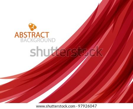 Vector red wave - stock vector