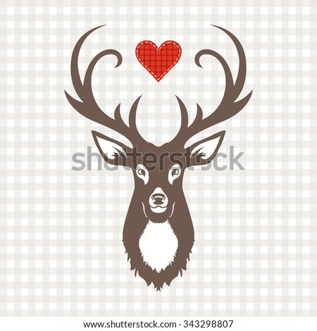 Vector Reindeer Design - stock vector