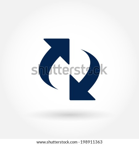 Vector reload icon. - stock vector