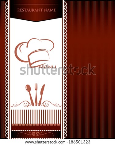 Vector restaurant card menu design - stock vector