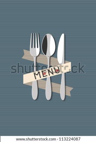 Vector restaurant menu design - stock vector