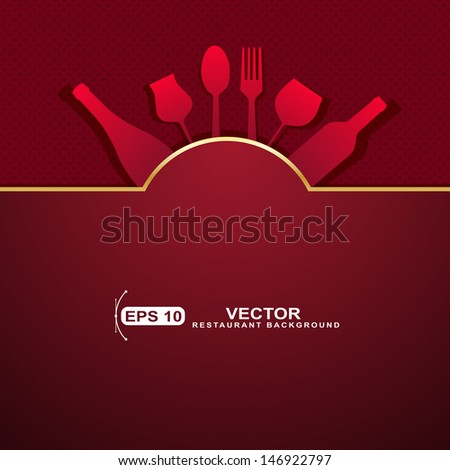 Vector  Restaurant menu design  - stock vector