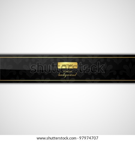 vector retro banner - stock vector