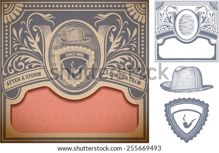 Vector. Retro card. Organized by layers - stock vector