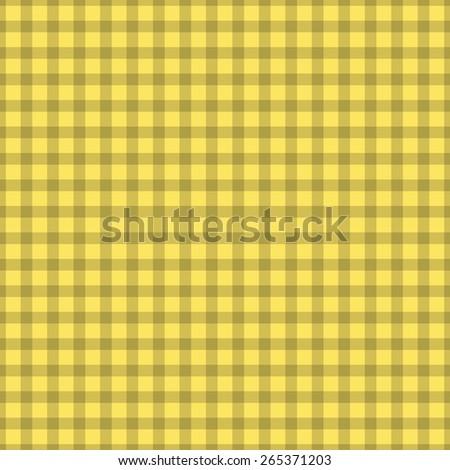 Vector retro checkered seamless background. simple tablecloth - stock vector