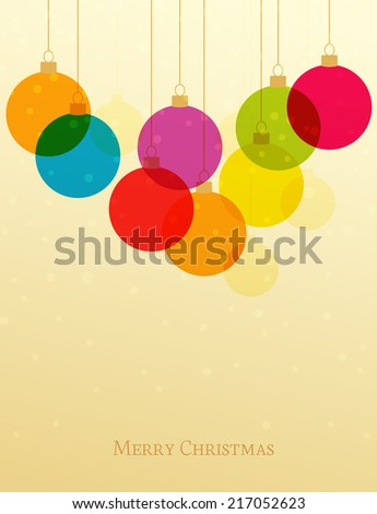 Vector retro Christmas background with Christmas balls - stock vector