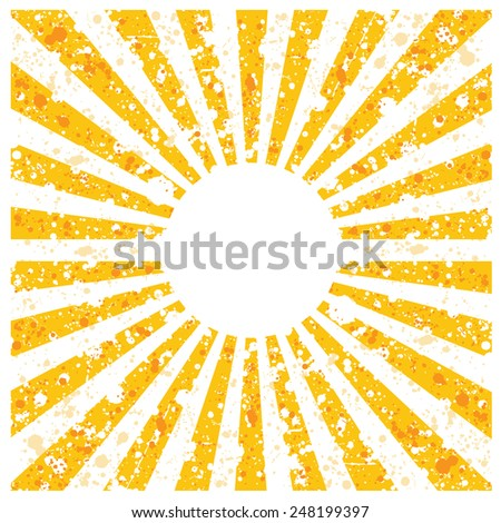 Vector retro grunge abstract background with rays - stock vector