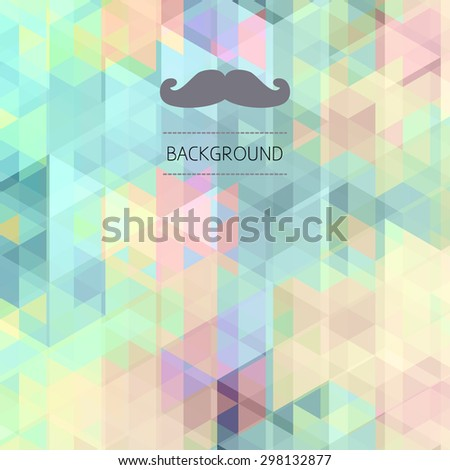 Vector retro Hipster pattern of triangles background - stock vector