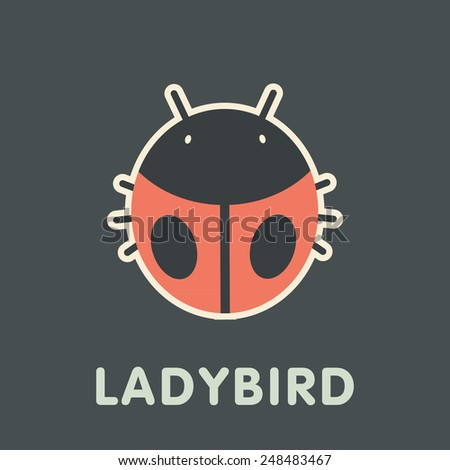 Vector Retro Ladybird Illustration  - stock vector