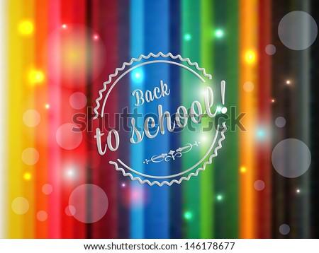vector retro style back to school illustration, background, postcard design - stock vector